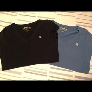 2 Lole T-shirt's size small. Black and blue